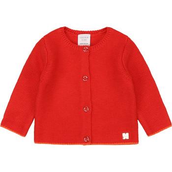 textil Niña Chaquetas de punto Carrément Beau Y95225 Rosa