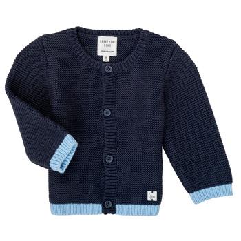 textil Niña Chaquetas de punto Carrément Beau Y95230 Azul