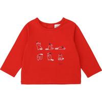 textil Niña Camisetas manga larga Carrément Beau Y95252 Rojo