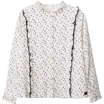 textil Niña Tops / Blusas Carrément Beau Y15356 Blanco