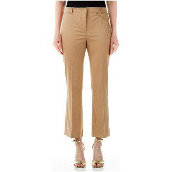 textil Mujer Pantalones fluidos Liu Jo PANT.MICROFLAIRE x0271-biscuit-cookie