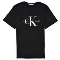 textil Niños Camisetas manga corta Calvin Klein Jeans MONOGRAM Negro