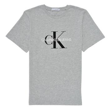 textil Niños Camisetas manga corta Calvin Klein Jeans MONOGRAM Gris