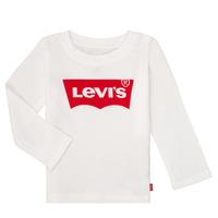 textil Niña Camisetas manga larga Levi's BATWING TEE LS Blanco