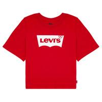 textil Niña Camisetas manga corta Levi's LIGHT BRIGHT CROPPED TEE Rojo