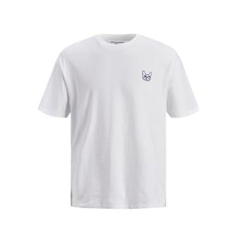 textil Niño Camisetas manga corta Jack & Jones JJAARHUS TEE Blanco