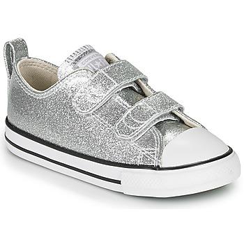 Zapatos Niña Zapatillas bajas Converse CHUCK TAYLOR ALL STAR 2V - COATED GLITTER Plata