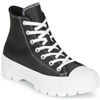 Zapatos Mujer Zapatillas altas Converse CHUCK TAYLOR ALL STAR LUGGED - FOUNDATIONAL LEATHER Negro