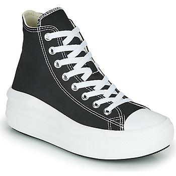 Zapatos Mujer Zapatillas altas Converse Chuck Taylor All Star Move Canvas Color Hi Negro