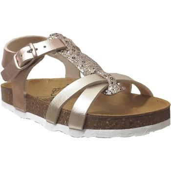 Zapatos Niña Sandalias Plakton Cross Platino metálico
