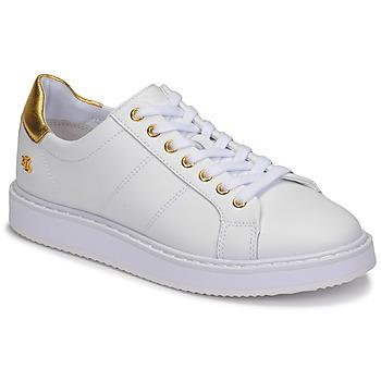 Zapatos Mujer Zapatillas bajas Lauren Ralph Lauren ANGELINE II Blanco / Oro