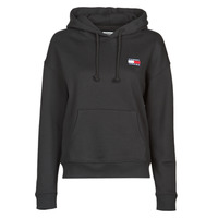 textil Mujer Sudaderas Tommy Jeans TJW TOMMY BADGE HOODIE Negro