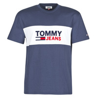 textil Hombre Camisetas manga corta Tommy Jeans TJM PIECED BAND LOGO TEE Marino