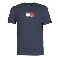 textil Hombre Camisetas manga corta Tommy Jeans TJM SMALL FLAG TEE Marino