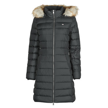 textil Mujer Plumas Tommy Jeans TJW ESSENTIAL HOODED DOWN COAT Negro