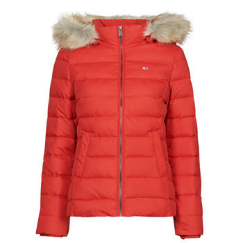 textil Mujer Plumas Tommy Jeans TJW BASIC HOODED DOWN JACKET Rojo