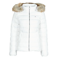 textil Mujer Plumas Tommy Jeans TJW BASIC HOODED DOWN JACKET Blanco