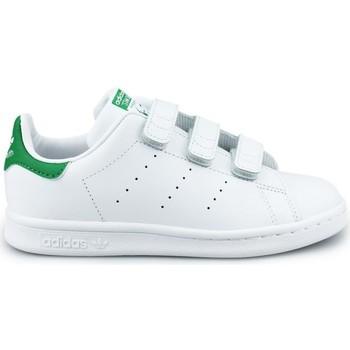Zapatos Niño Zapatillas bajas adidas Originals Adidas Stan Smith CF C Blanc Blanco