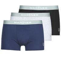 Ropa interior Hombre Boxer Mariner PACK COTON BIO Negro / Marino / Gris