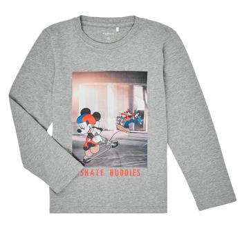 textil Niño Camisetas manga larga Name it NMMMICKEY EMIL Gris
