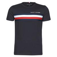 textil Hombre Camisetas manga corta Tommy Hilfiger GLOBAL STRIPE TEE Marino