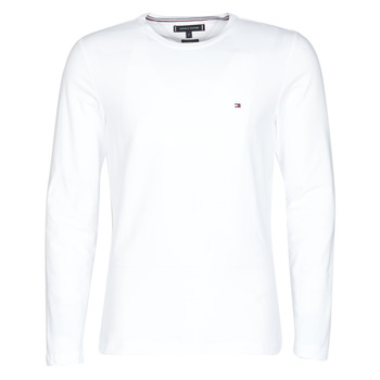 textil Hombre Camisetas manga larga Tommy Hilfiger STRETCH SLIM FIT LONG SLEEVE TEE Blanco