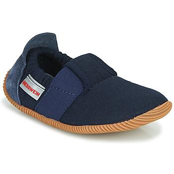 Zapatos Niños Pantuflas Giesswein SOLL Marino