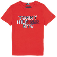 textil Niño Camisetas manga corta Tommy Hilfiger KB0KB05848-XNL Rojo
