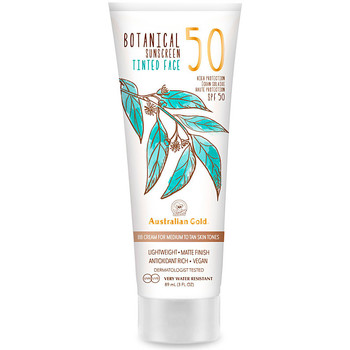 Belleza Protección solar Australian Gold Botanical Spf50 Tinted Face medium-tan  88 ml