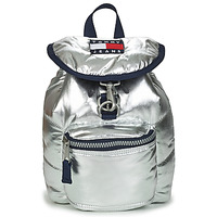 Bolsos Mujer Mochila Tommy Jeans TJW HERITAGE SM PUFFER BACKPACK Plateado