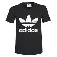 textil Mujer camisetas manga corta adidas Originals TREFOIL TEE Negro