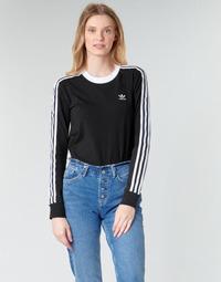 textil Mujer Camisetas manga larga adidas Originals 3 STR LS Negro