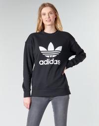 textil Mujer Sudaderas adidas Originals TRF CREW SWEAT Negro
