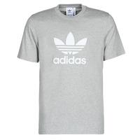 textil Hombre Camisetas manga corta adidas Originals TREFOIL T-SHIRT Bruyère / Gris / Medio
