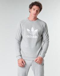 textil Hombre Sudaderas adidas Originals TREFOIL CREW Bruyère / Gris / Medio