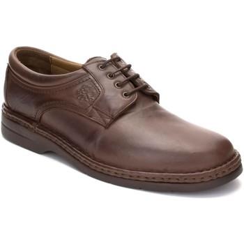 Zapatos Hombre Derbie Comodo Sport Zapatos con cordones de piel de hombre by Marron