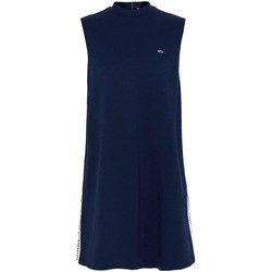 textil Mujer vestidos cortos Tommy Jeans TJW TAPE DETAIL A-LINE Azul