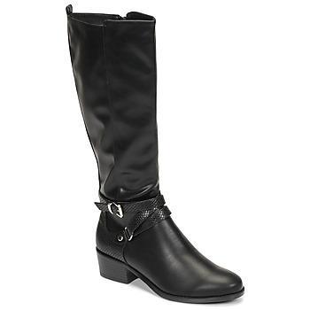 Zapatos Mujer Botas urbanas Moony Mood NELLE Negro
