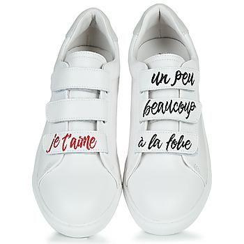 Bons baisers de Paname EDITH JE T'AIME Blanco - Envío gratis |  - Zapatos Deportivas bajas Mujer 12000