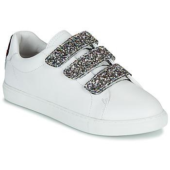 Zapatos Mujer Zapatillas bajas Bons baisers de Paname EDITH GLITTER TONGUE Blanco