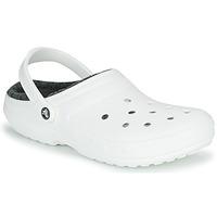 Zapatos Zuecos (Clogs) Crocs CLASSIC LINED CLOG Blanco