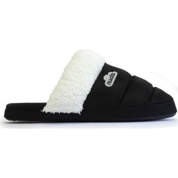Zapatos Pantuflas Nuvola. Zapatilla de estar por casa NUVOLA®,Zueco Wolly Suela de Goma. Black