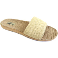 Zapatos Mujer Zuecos (Mules) Brasileras Sandalia ®,Tren Plant Pala Beige