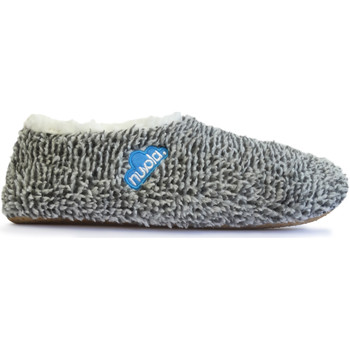 Zapatos Pantuflas Nuvola. Zapatillas de estar en casa Polar Suela de Tela Black