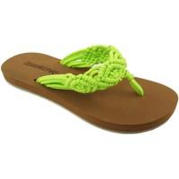 Zapatos Mujer Chanclas Brasileras Crochet Green