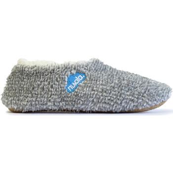 Zapatos Pantuflas Nuvola. Zapatillas de estar en casa Polar Suela de Tela Grey