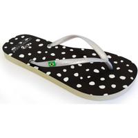 Zapatos Mujer Chanclas Brasileras Chanclas de playa ®,Printed 20 Topos Black
