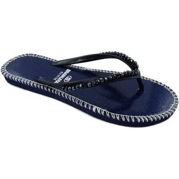 Zapatos Mujer Chanclas Brasileras Shiny Blue