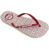Zapatos Mujer Chanclas Brasileras Feel BCN Panot Burgundy