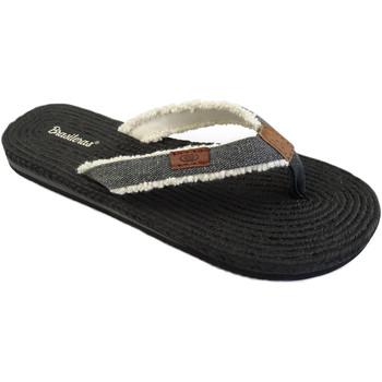 Zapatos Mujer Chanclas Brasileras Chancla ®, Lino Black